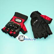 Перчатки PRO-BIKER MCS-04 (размер XXL, красные БЕСПАЛЫЕ)