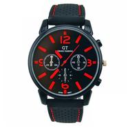 Часы Grand Touring тип1 (черно-красные, стекло, сталь)