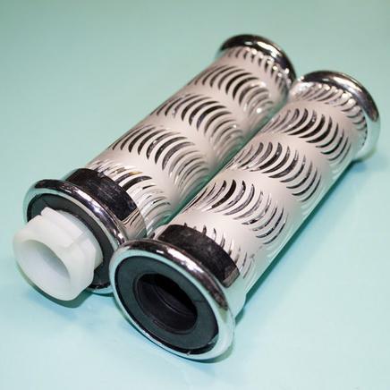 Ручки руля ТИП56 (грипсы серебро матовые узор/насечка на руль 22 мм.)