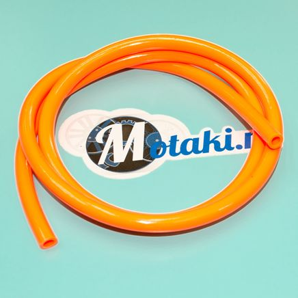 Бензошланг оранжевый (шланг топливный силиконовый D8 x d5 мм., 1 метр)