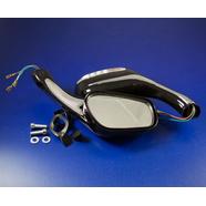 Зеркала 070/020 (пластиковые, черные с поворотами, плоские клеммы, М8 x 130 x 75 мм.)