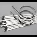 Стяжка металлическая с замком (хомут 300 х 4.6 мм., самофиксирующийся механизм)