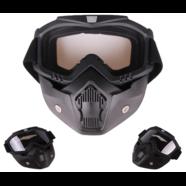 Очки защитные с маской Moto (прозрачное стекло, фильтр снимается)