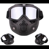 Очки защитные с маской Moto (зеркальное стекло, фильтр снимается)