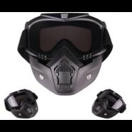 Очки защитные с маской Moto (темное стекло, маска-фильтр снимается)
