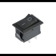 Выключатель клавишный без подсветки (квадратный черный 20 х 15 х 25 мм.)