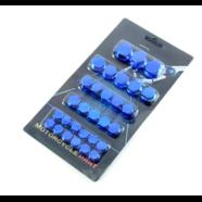 Колпачки - заглушки болтов и гаек (синий пластик, 30 шт.)