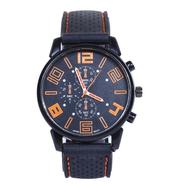 Часы Grand Touring тип2 (черно-оранжевые, стекло, сталь)