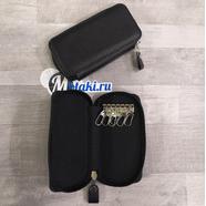 Ключница (натуральная кожа, 6 карабинов, кирза черный, 135 x 70 x 23) N10.2