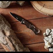 Нож складной Мастер W30 тип4 (черная сталь, с карабином, ПД 160 мм.)