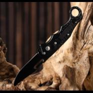 Нож складной с кнопкой МАСТЕР тип5 (с предохранителем, сталь, 160 мм.)