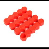 Колпачки силиконовые на колесные болты (21 мм. х 20 шт., от +300 до -25 градусов, красные)