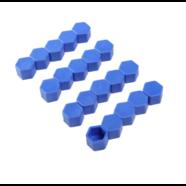 Колпачки силиконовые на колесные болты (21 мм. х 20 шт., от +300 до -25 градусов, синие)