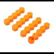 Колпачки силиконовые на колесные болты (19 мм. х 20 шт., от +300 до -25 градусов, оранжевые)
