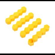Колпачки силиконовые на колесные болты (19 мм. х 20 шт., от +300 до -25 градусов, желтые)
