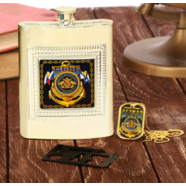 Набор подарочный ВМФ 3в1 (фляжка 240 мл., нож - мультитул, жетон)