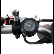 Часы на руль (корпус сталь черный, черный циферблат, влагозащита)