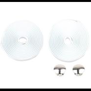 Обмотка руля с заглушками (белая вспененная резина 2 шт. 30 х 2000 мм.)