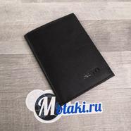 Обложка для водительских документов (натуральная кожа, черный матовый, AVTO) N2.4