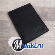 Обложка для водительских документов (натуральная кожа, темно-синий, AVTO) N2.6