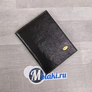 Обложка для паспорта, водительских документов (натуральная кожа, черный) N3.2