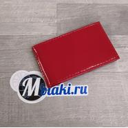 Визитница (натуральная кожа, красный, 20 карт) N5.1