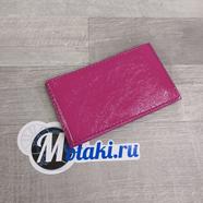 Визитница (натуральная кожа, розовый, 20 карт) N5.14