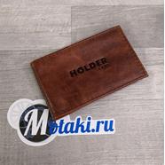 Визитница (натуральная кожа, бежевый, 20 карт, HOLDER) N5.24
