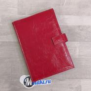 Обложка для ежедневника (натуральная кожа, красный) N6.3