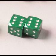 Колпачки на колеса КУБИКИ (металлические зеленые, 2 шт.)