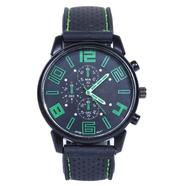 Часы Grand Touring тип2 (черно-зеленые, стекло, сталь)