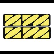 Наклейки эмблем бензобака Иж тип1 (винил, черно-желтые, 2 шт.)
