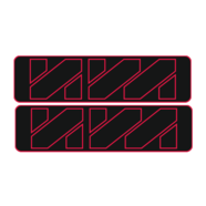 Наклейки эмблем бензобака Иж тип2 (винил, черно-красные, 2 шт.)