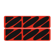 Наклейки эмблем бензобака Иж тип1 (винил, красно-черные, 2 шт.)