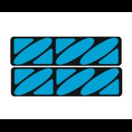 Наклейки эмблем бензобака Иж тип1 (винил, черно-голубые, 2 шт.)
