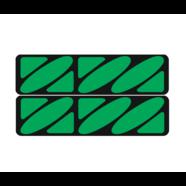 Наклейки эмблем бензобака Иж тип1 (винил, черно-зеленые, 2 шт.)