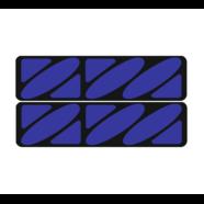 Наклейки эмблем бензобака Иж тип1 (винил, черно-синие, 2 шт.)