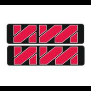 Наклейки эмблем бензобака Иж тип2 (винил, черно-красно-белые, 2 шт.)