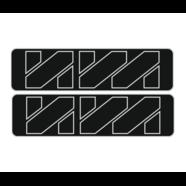 Наклейки эмблем бензобака Иж тип2 (винил, черно-белые, 2 шт.)