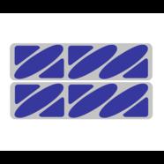 Наклейки эмблем бензобака Иж тип1 (винил, серо-синие, 2 шт.)