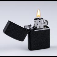 Зажигалка бензиновая КЛАССИКА (кремний, черный металл, не заправлена)