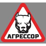 Наклейка АГРЕССОР (винил, 175 x 200 мм.)