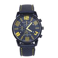 Часы Grand Touring тип2 (черно-желтые, стекло, сталь)