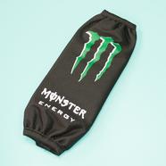 Чехол заднего амортизатора питбайка (Monster Energy, зеленый, длина 270 мм.)