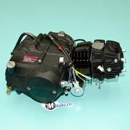 Двигатель TTR125 4Т 120 куб. (ЧЕРНЫЙ AL цилиндр, нижний стартер)