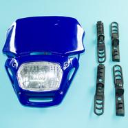 Фара питбайк CY-672 (синяя, с резинками)