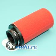 Фильтр 0 нулевого сопротивления d38 мм. (ПОРОЛОНОВЫЙ КРАСНЫЙ, высокий h130 мм.)