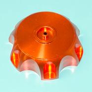 Крышка бензобака питбайка (оранжевая, алюминий)