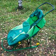 Санки-коляски детские Тимка Т2К Комфорт (зеленые, с колесами)