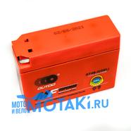 Аккумулятор 12В 2.3Ач скутер Ямаха, Сузуки (113 х 38 х 87 мм, гелевый GT4B-5)